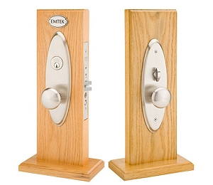 Emtek 3502 Memphis Knob by Knob and Lever by Lever Mortise Handleset