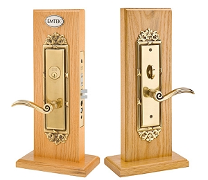 Emtek 3507 Regency Knob by Knob and Lever by Lever Mortise Handleset