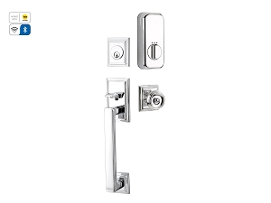 Emtek EMP4213 Hamden Handleset with EMPowered Motorized Smart Lock Upgrade