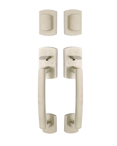 Emtek 453727 Grip by Grip Ridgemont Sectional Tubular Entry Handleset