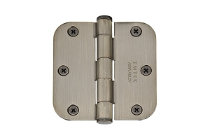 Emtek 92033 3.5 X 3.5 - 5/8 Radius Heavy Duty Hinges-Pair