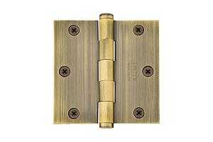 Emtek 96113 Solid Brass 3.5 X 3.5  Square Residential Duty Hinges-Pair