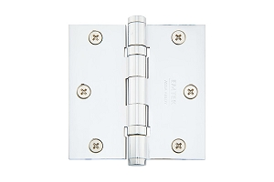 Emtek 96413 Solid Brass 3.5 X 3.5 Square Heavy Duty Ball Bearing Hinges-Pair