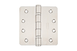 Emtek 9842432D Stainless Steel 4 X 4 - 1/4 Radius Heavy Duty Ball Bearing Hinges-Pair