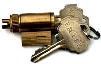 Emtek Key in Knob and Lever Cylinder CY4-PSCHCTS2