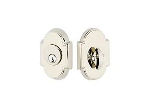 Emtek Style 8 Single Cylinder Deadbolt in Polished Nickel 8466US14