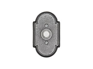 Emtek 2431Wrought Steel #1 Rosette Doorbell