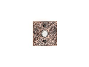 Emtek Hammered Rosette Doorbell in Oil Rubbed Bronze 2452US10B