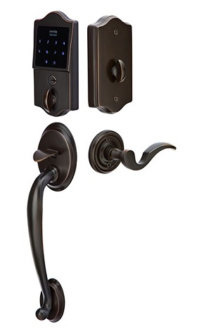 EMTouch Classic Style Electronic Keypad Entry Set with Cortina Lever in Oil Rubbed Bronze E4410US10B