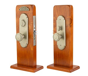Emtek Cheyenne Knob by Knob and Lever by Lever Mortise Handleset with Butte Knob in Tumbled White Bronze 3521TWB