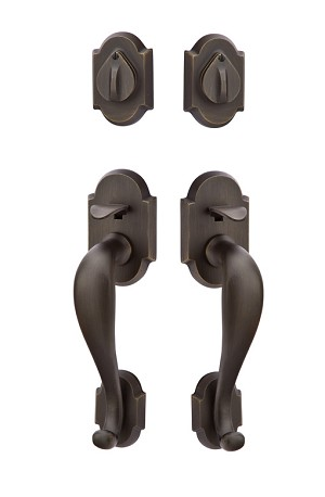 Emtek Grip by Grip Denver Tubular Handleset in Medium Bronze 453212MB