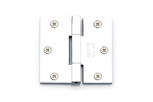 Emtek Solid Brass Square Barrel Heavy Duty Hinges-Pair 3 1/2  in Polished Chrome 96513