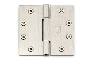 Emtek Solid Brass Square Barrel Heavy Duty Hinges-Pair 4 1/2 in Satin Nickel 96515US15